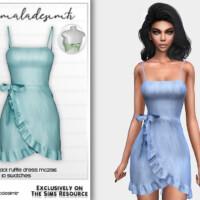 Cut Out Tie Back Ruffle Dress Mc236 By Mermaladesimtr