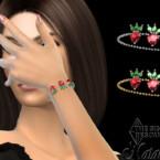Strawberry Pendant Chain Bracelet By Natalis