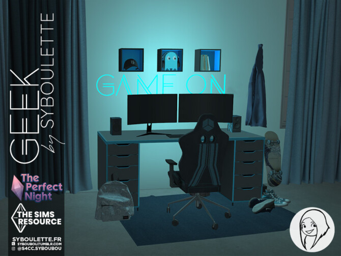Sims 4 The Perfect Night Geek set by Syboubou at TSR