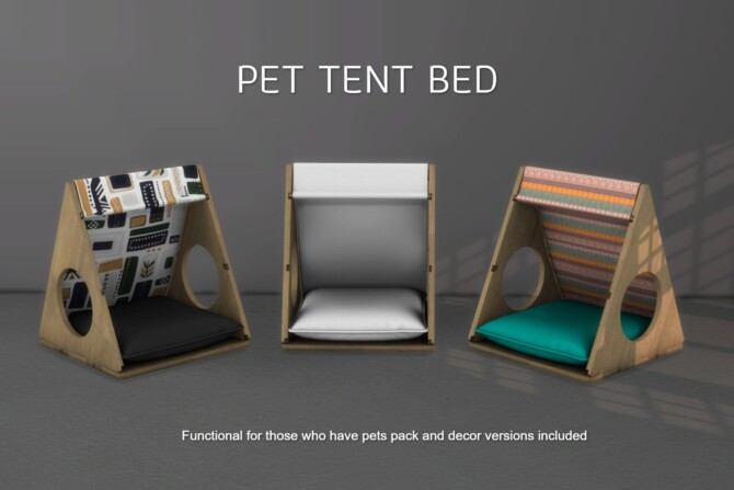 Sims 4 Pet tent bed (P) at Leo Sims