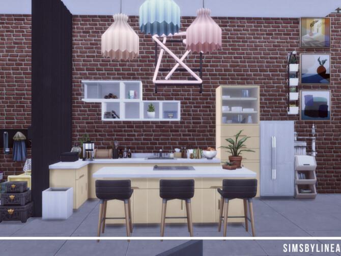 Sims 4 Makeshift Designer Loft by SIMSBYLINEA at TSR