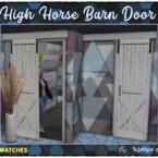The High Horse Barn Door By Wykkyd