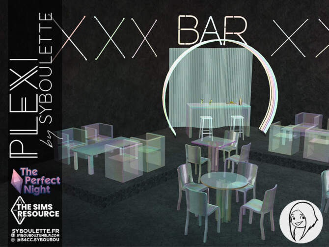 Sims 4 The Perfect Night Plexi set by Syboubou at TSR