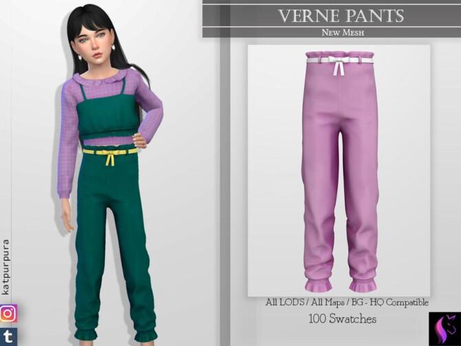 Sims 4 Verne Pants by KaTPurpura at TSR