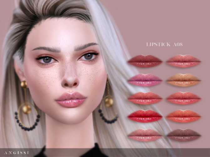 Sims 4 Lipstick A08 by ANGISSI at TSR