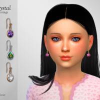 Crystal Earrings Child By Suzue