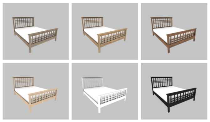 Sims 4 Craftsman High Footboard Bed at Heurrs