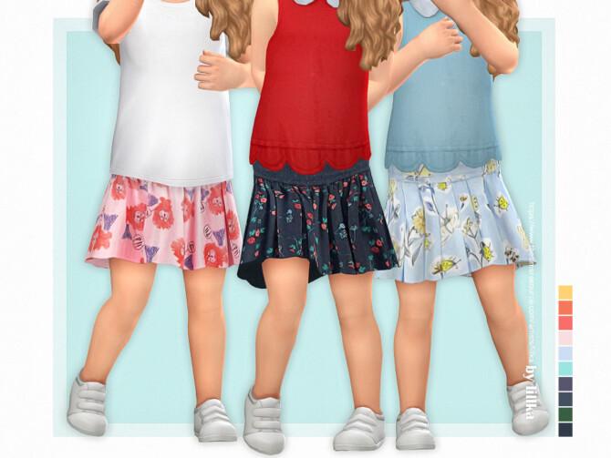 Sims 4 Toddler Skirt P05 by lillka at TSR