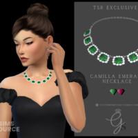Camilla Emerald Necklace By Glitterberryfly