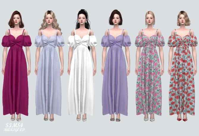 Shirring Long Os Dress