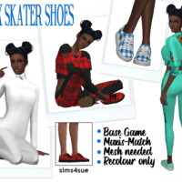 Onyxsims' Skater Shoes
