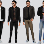 Rampardo Leather Jacket By Mclaynesims