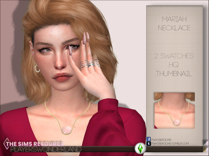 Sims 4 Mariah Necklace by PlayersWonderland at TSR