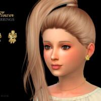Flower Earrings Child By Suzue