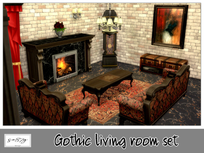 Gothic Living Room Recolor By So87g