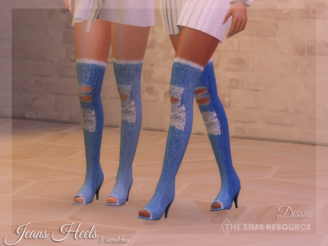 Jeans Heels By Dissia