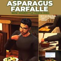 Lemon & Asparagus Farfalle Custom Recipe