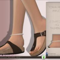 Tonya Pearl Anklet By Playerswonderland
