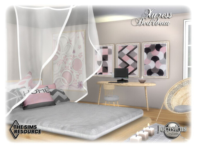 Sims 4 Xuzess bedroom by jomsims at TSR