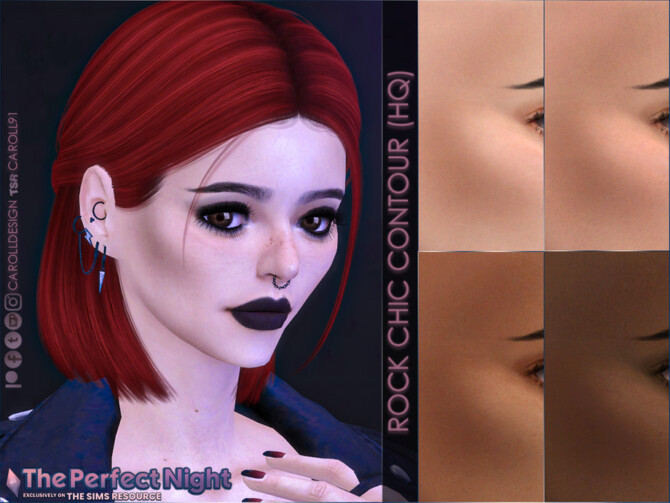 Sims 4 The Perfect Night Rock Chic Contour by Caroll91 at TSR