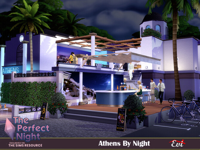 Sims 4 Athens by night by evi at TSR