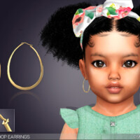Alora Oval Hoop Earrings For Todders By Feyona
