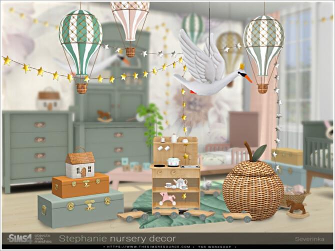 Sims 4 Stephanie nursery decor by Severinka at TSR