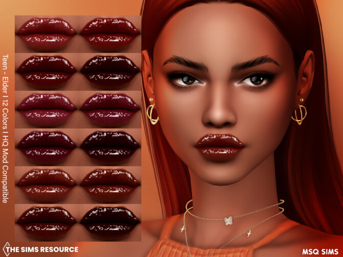 Sims 4 Lipstick NB58 at MSQ Sims