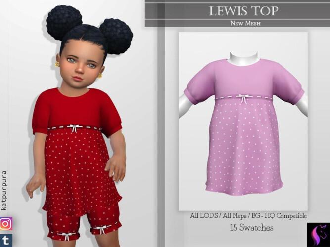 Lewis Top By Katpurpura