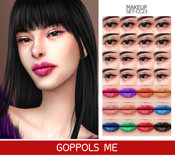 Sims 4 GPME GOLD MAKEUP SET CC23 at GOPPOLS Me