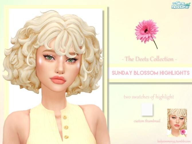 Sims 4 Sunday Blossom Highlights by LadySimmer94 at TSR