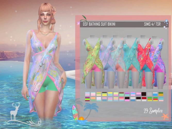 Bathing Suit Bikini By Dansimsfantasy