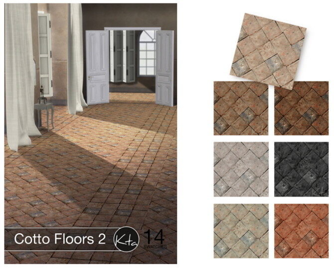 Sims 4 Cotto Floors 2 at Ktasims