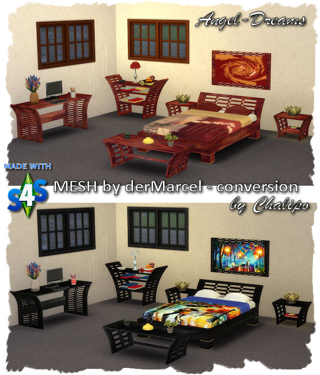 Sims 4 Angel Dreams bedroom by Chalipo at All 4 Sims