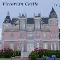 Pink Victorian Castle By Christine