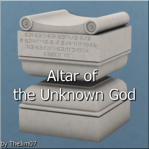 Altar Of The Unknown God By Thejim07