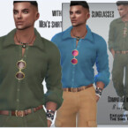 Men's Shirt With Sunglasses By Sims House