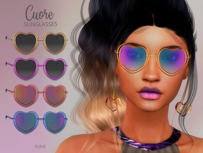 Sims 4 Cuore Sunglasses by Suzue at TSR