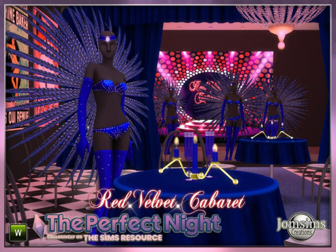 Sims 4 The Perfect Night Red velvet by jomsims at TSR