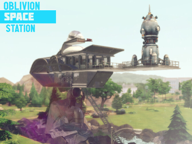 Sims 4 Oblivion Space Station by GenkaiHaretsu at TSR