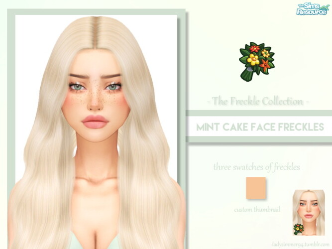 Mint Cake Face Freckles By Ladysimmer94