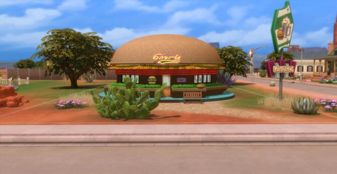 Burgertime Diner By Kittychin