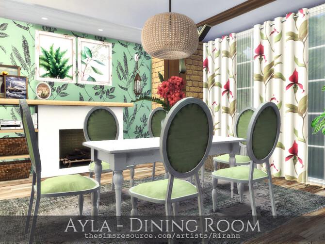 Sims 4 Ayla Dining Room by Rirann at TSR