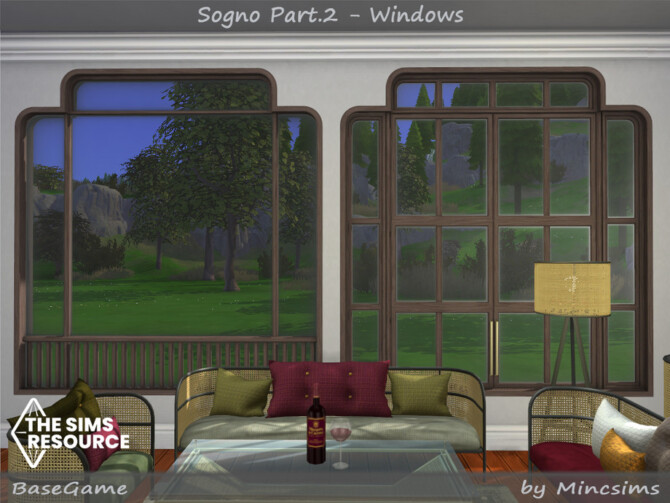 Sims 4 Sogno Part.2 Windows by Mincsims at TSR