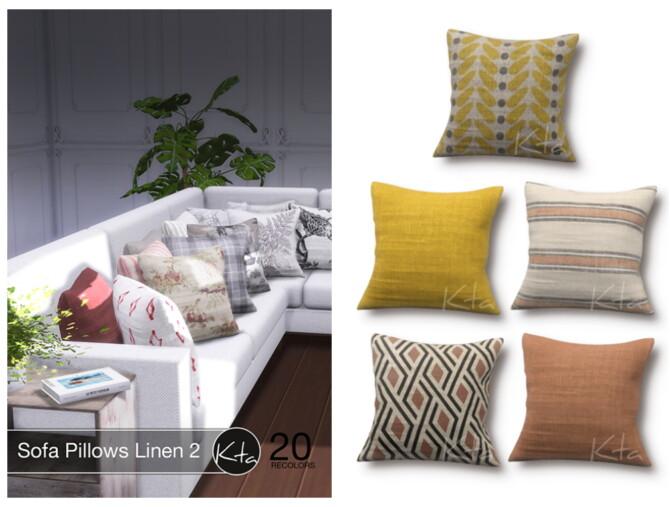 Sims 4 Sofa Pillows Linen 2 at Ktasims