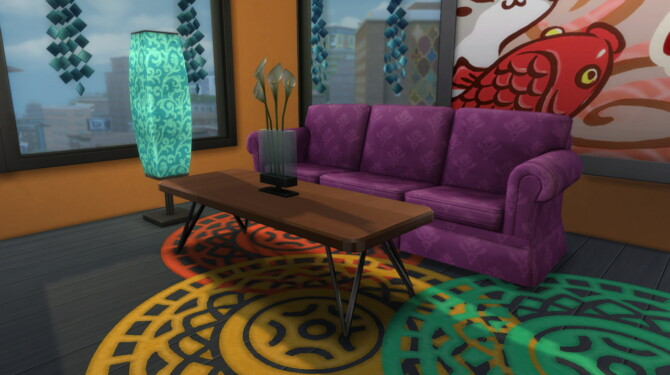 Sims 4 Ugway Grot Coffee Table at Modern Crafter CC