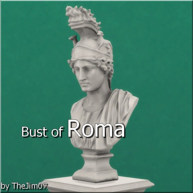 Sims 4 Bust of Roma by TheJim07 at Mod The Sims 4