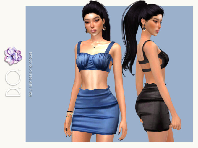 Sims 4 Bustier SET DO124 by D.O.Lilac at TSR
