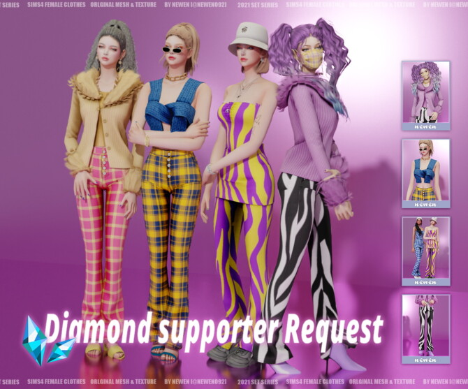 Sims 4 Diamond Supporter Request 2021 Set 01 at NEWEN