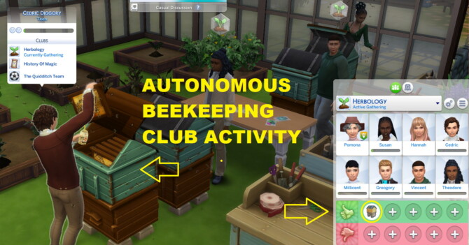 Sims 4 Autonomous Beekeeping Club Interaction by siriussimmer at Mod The Sims 4